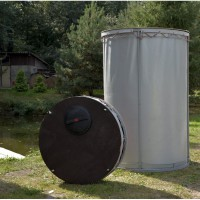 Резервуар разборный, вертикальный в защитном пенале. Объемы от 1150 до 3100 л