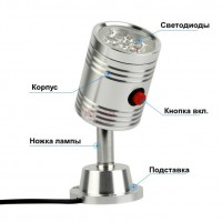 Work Light Светодиодная лампа 3 Вт/5 Вт